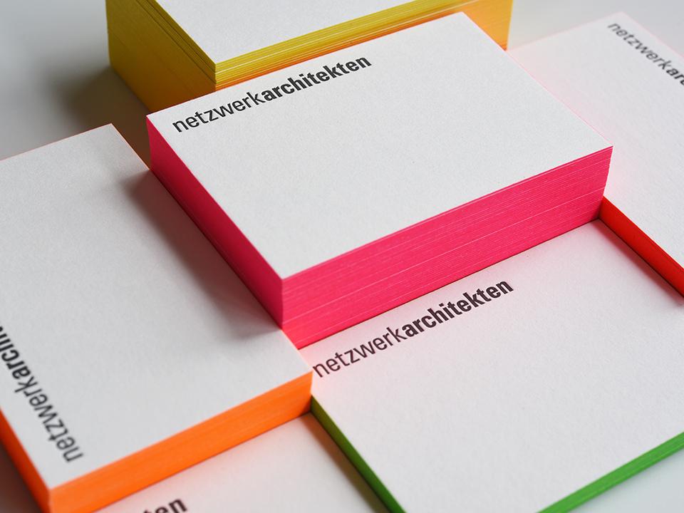 Farbschnitt-Visitenkarten