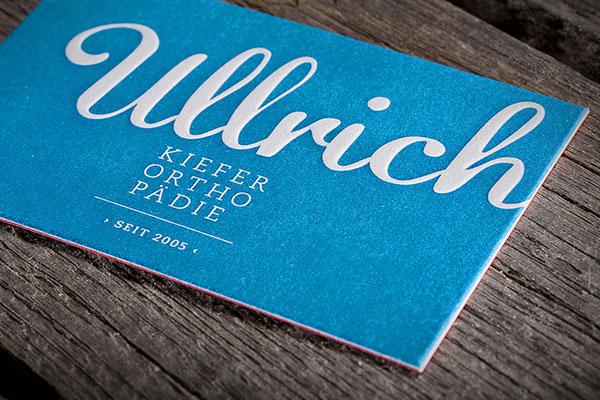 Visitenkarten Letterpress Siebdruck