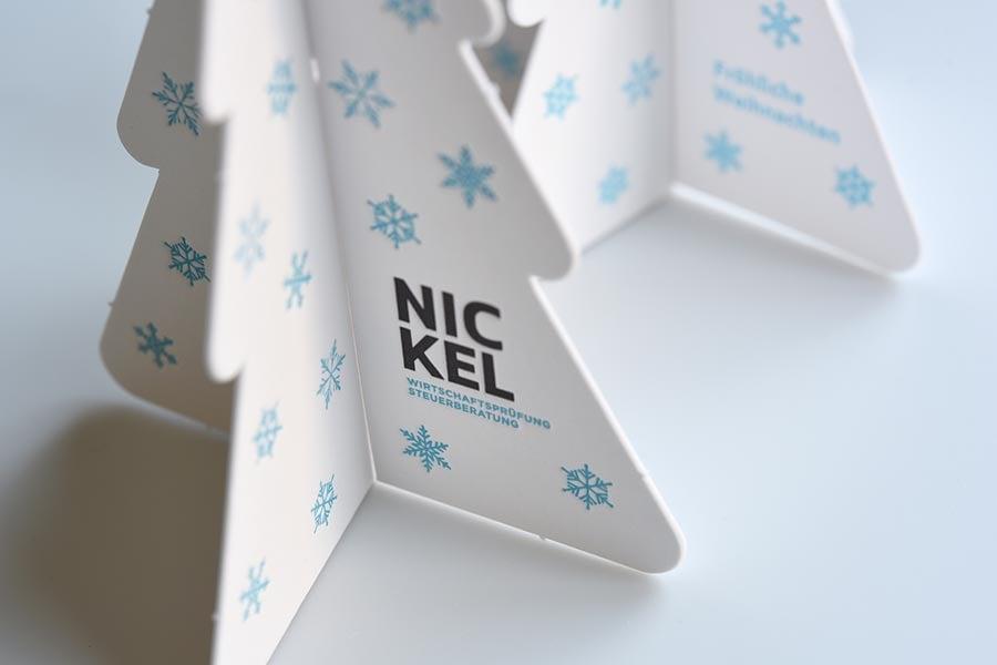 Weihnachtskarte Nickel