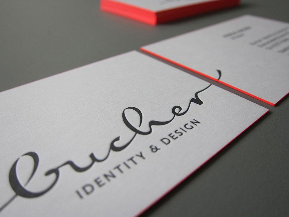 Visitenkarten Letterpress & Offset kombiniert