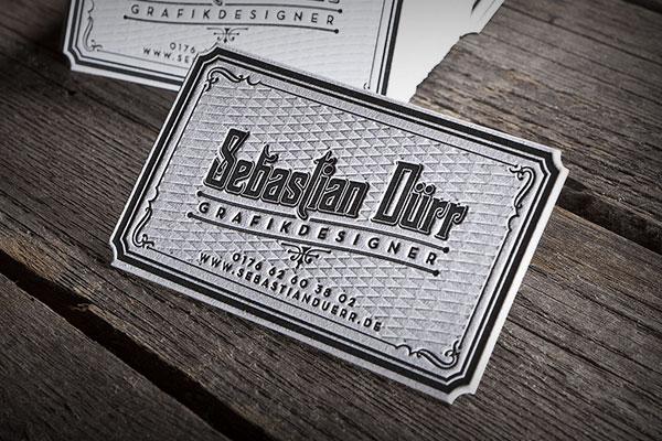 Visitenkarten Sebastian Dürr