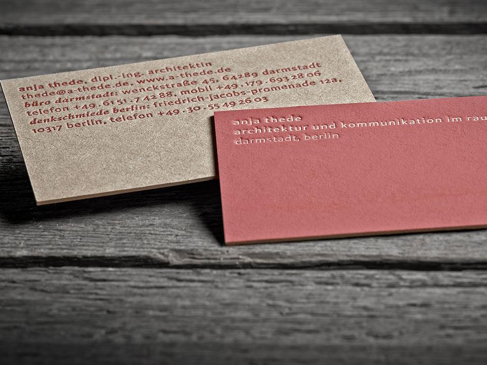Letterpress Visitenkarten Besonders Edel Und Exklusiv
